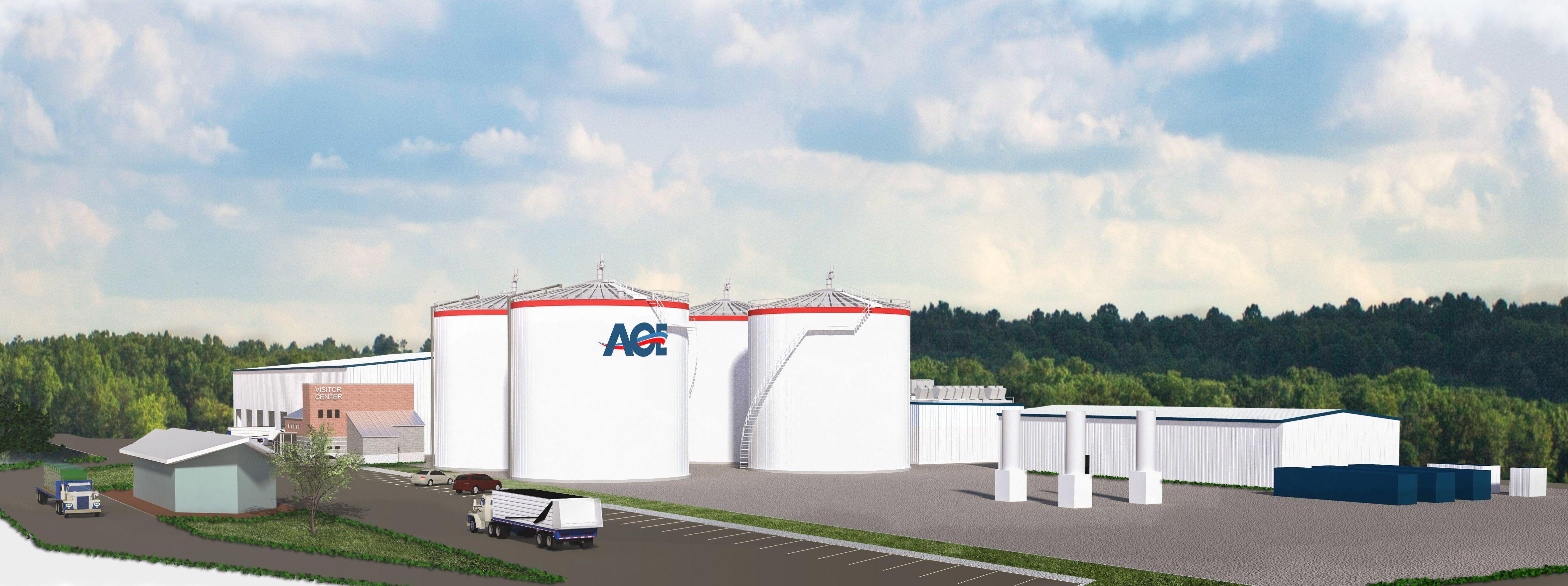 American Organic Energy Plant Rendering