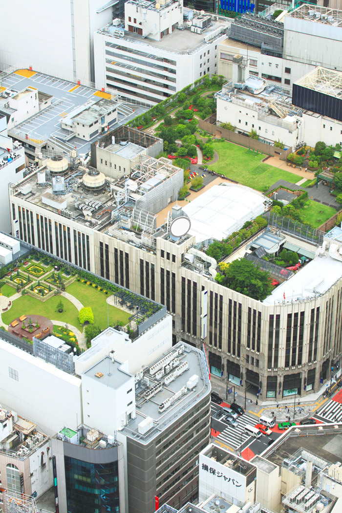 Green roofs are vegetated landscapes installed on top of a conventional roof.