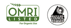 Omri Association Logo with Mulch & Soil Council Certification Badge