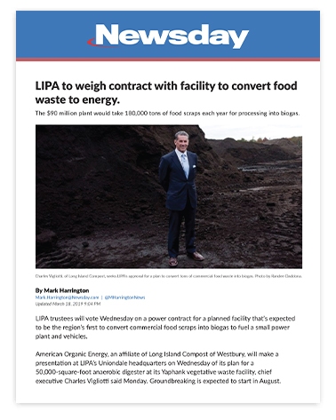 LIPA to weigh contract with facility to convert food waste to energy.