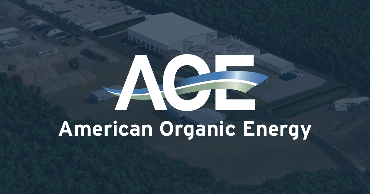 AOE Logo over rendering of AOE plant