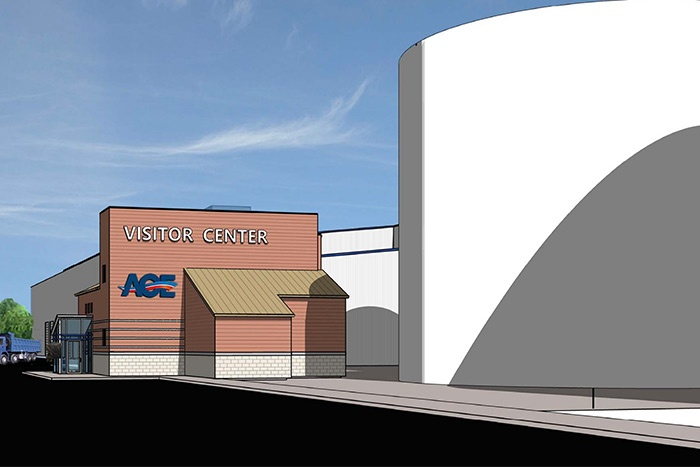 Rendering of AOE Visitor Center