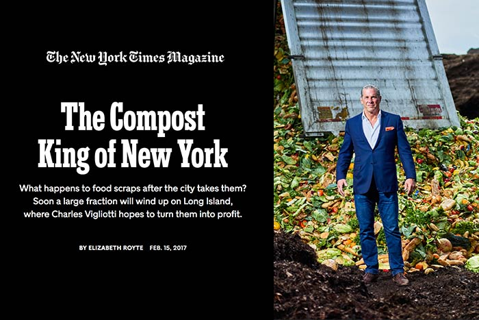 NY Times image - The Compost King of New York with photo of Charles Vigliotti
