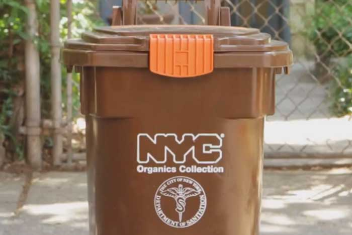 NYC Organics Collection Can