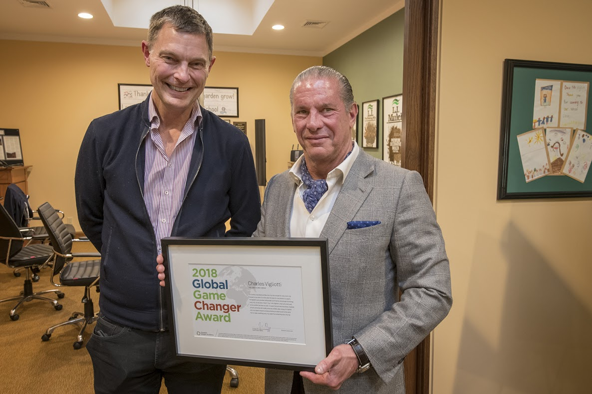 American Organic Energy CEO Charles Vigliotti Recognized as 'Global Game Changer'